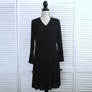 The Limited Drop Waist Pleated Bell Sleeve Dress